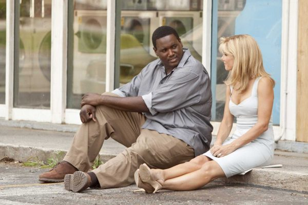 Quinton Aaron and Sandra Bullock in The Blind Side