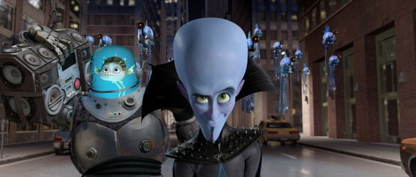 A scene from Megamind