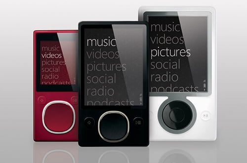 Zune family of devices