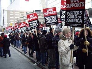 Writers in Toronto support WGA