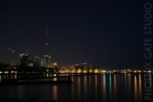 Toronto skyline during Earth Hour 2008