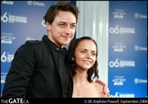 James McAvoy and Christina Ricci