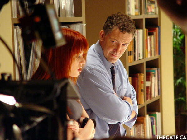 Alexz Johnson and Simon Reynolds on the set of Instant Star
