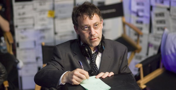 Sam Raimi on the set of Spider-Man