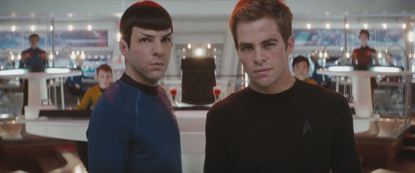 Zachary Quinto and Chris Pine in Star Trek
