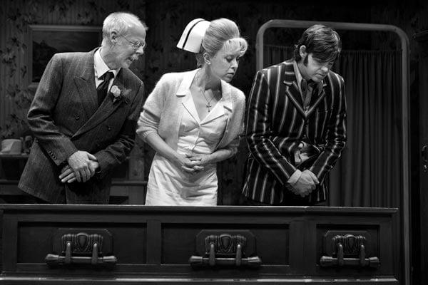 Oliver Dennis, Nicole Underhay and Matthew Edison in Loot