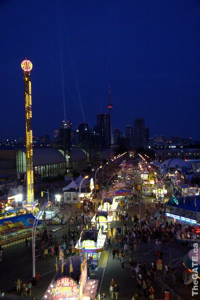 Looking down on the 2009 CNE