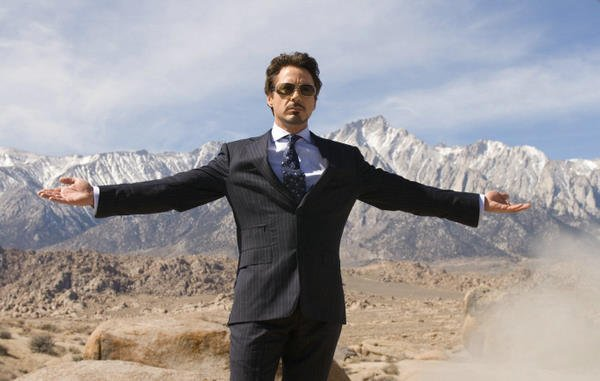 Robert Downey Jr. as Tony Stark in Iron Man