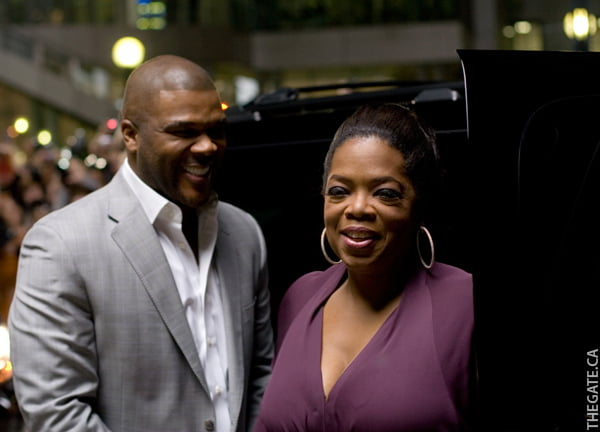 Tyler Perry and Oprah Winfrey on the 'Precious' red carpet
