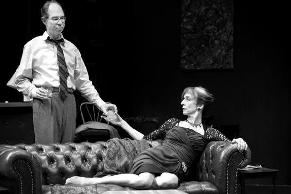 Nancy Palk and Diego Matamoros in 'Who's Afraid of Virginia Woolf'