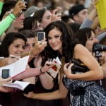 Jayde Nicole with her fans