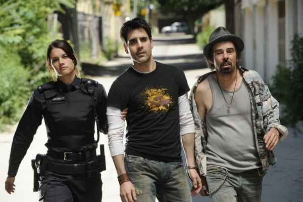 Missy Peregrym, Ben Bass, and Billy Otis in Rookie Blue