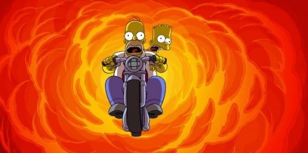 Homer and Bart in The Simpsons Movie