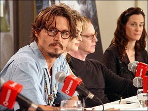 Johnny Depp at the Corpse Bride press conference