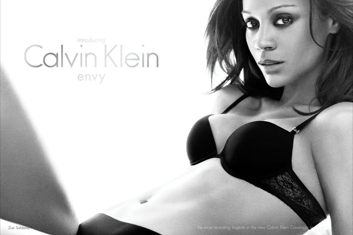 Zoe Saldana for Calvin Klein