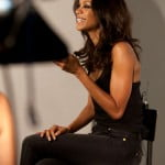 Behind the scenes with Zoe Saldana #3
