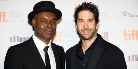 Cameron Bailey and David Schwimmer