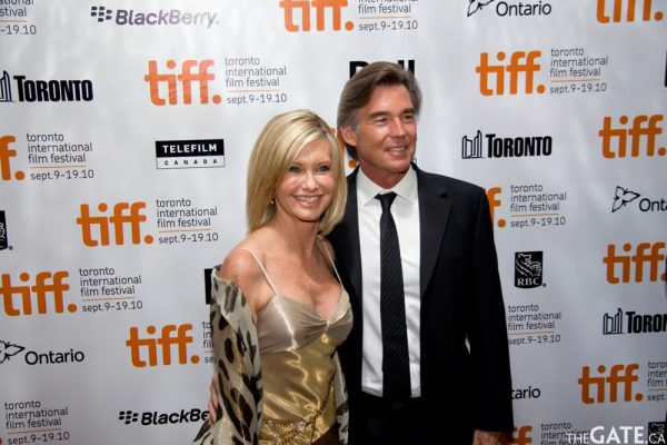 Olivia Newton-John and her husband