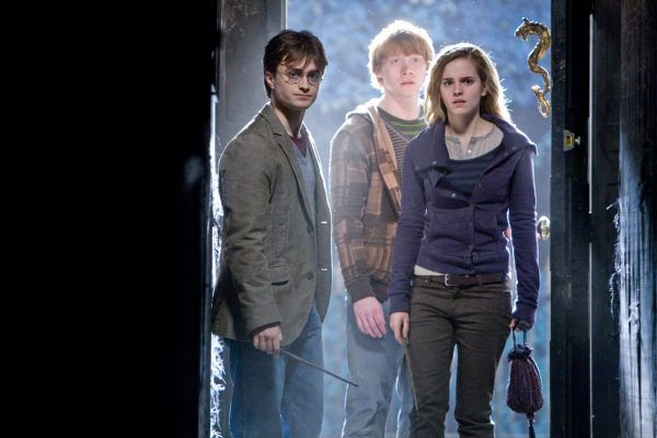 Daniel Radcliffe, Rupert Grint and Emma Watson in Harry Potter and the Deathly Hallows Part 1