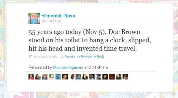 Doc Brown tweet