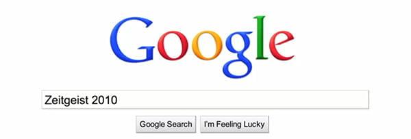 Google's Zeitgeist 2010