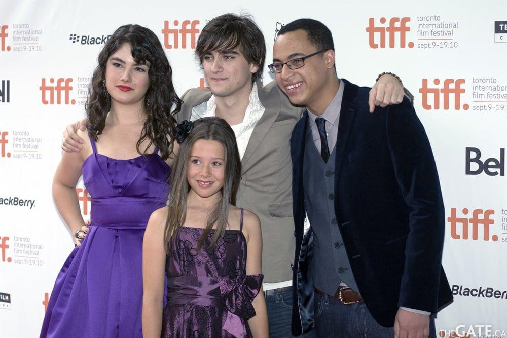 Katie Boland, Landon Liboiron, Jesse Reid, and Natasha Calis