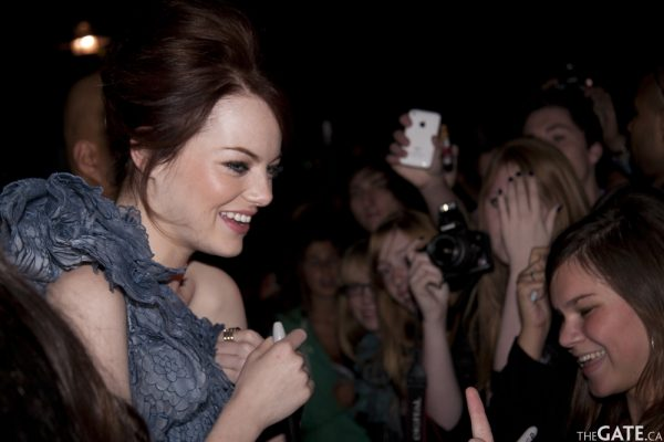 Emma Stone with her fans