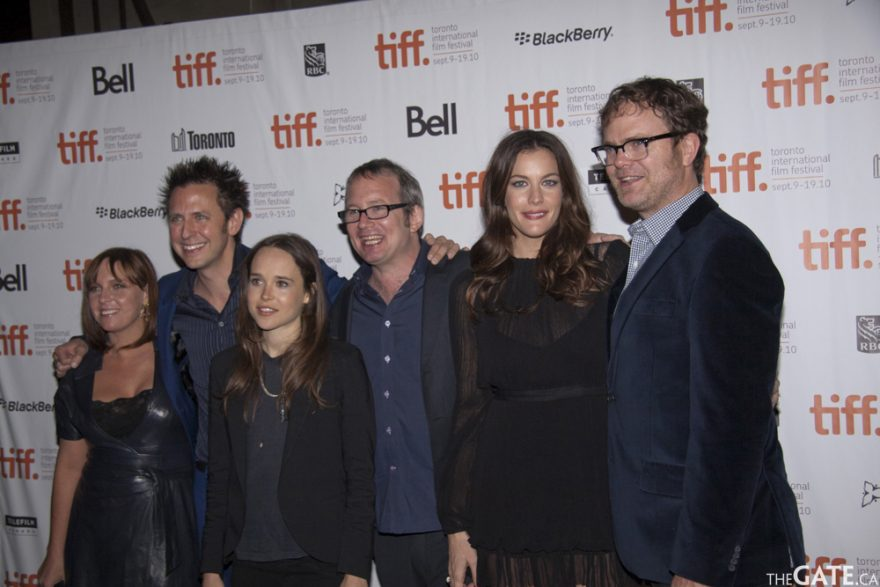 The cast and filmmakers of Super