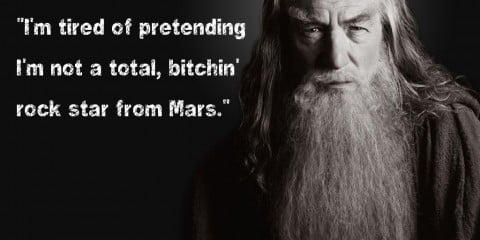 Gandalf agrees with Charlie Sheen