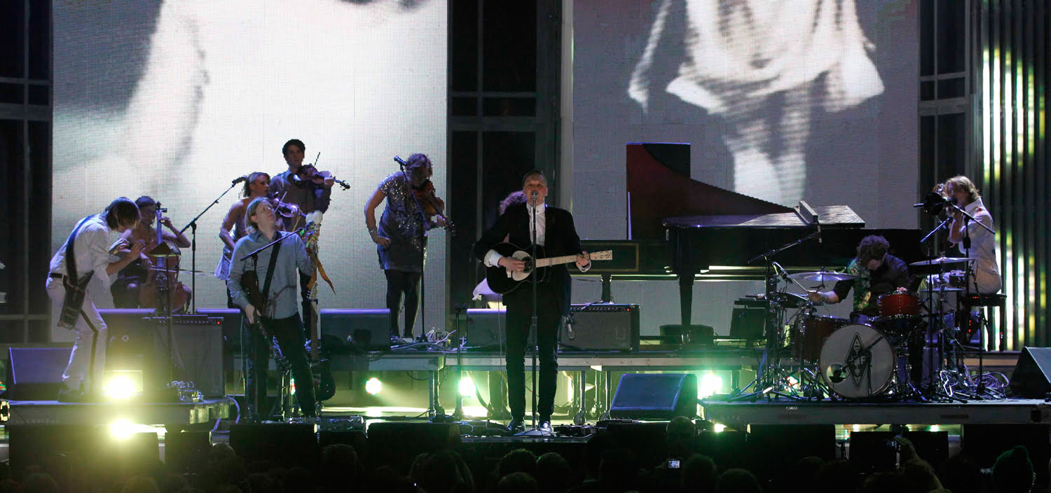 Arcade Fire perform at the 2011 Juno Awards in Toronto