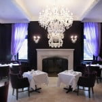 Fireplace and tea room at the Windsor Arms