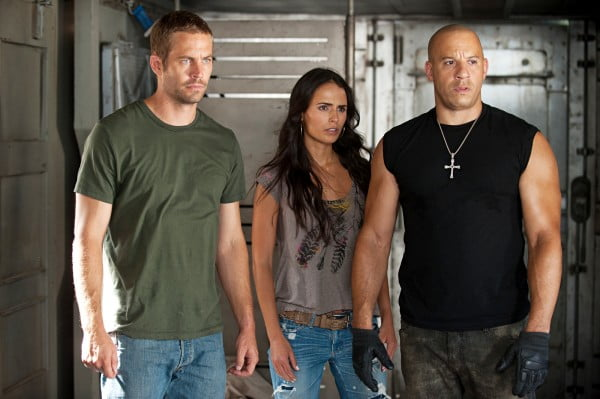 Paul Walker, Jordana Brewster and Vin Diesel in Fast Five