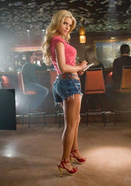 Jessica Simpson as Daisy Duke in the Dukes of Hazzard
