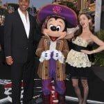 Rick Fox, Mickey Mouse and Eliza Dushku
