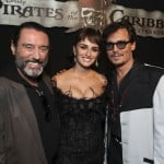 Ian McShane, Penelope Cruz and Johnny Depp