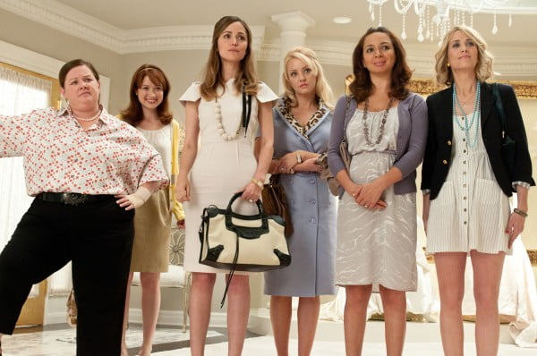 The cast of Bridemaids starring Kristen Wiig