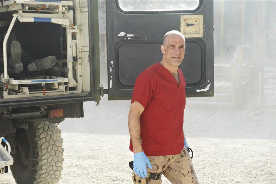 Elias Koteas in a scene from Combat Hospital