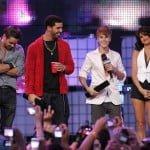 Colin Farrell, Drake, Justin Bieber and Selena Gomez