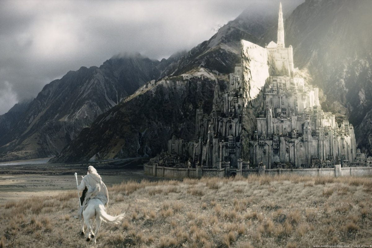 A scene from The Lord of the Rings: Return of the King