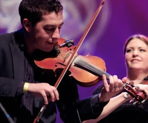 Cape Breton fiddlers Colin Grant and Andrea Beaton