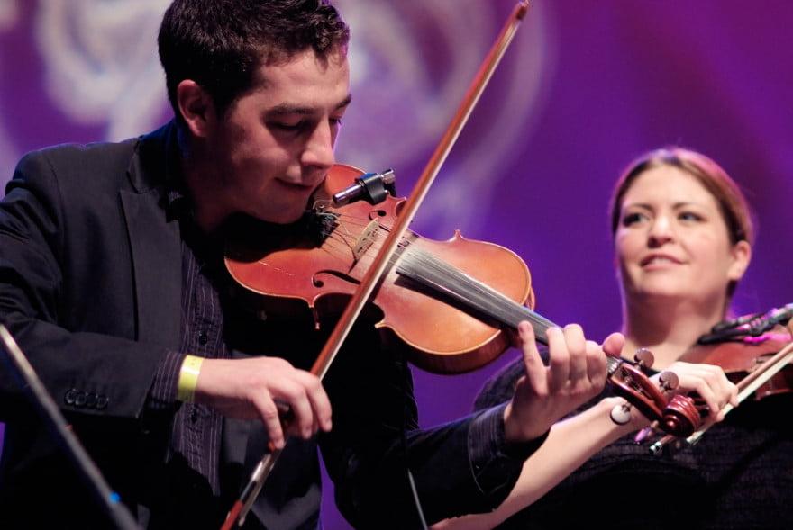 Cape Breton fiddlers Colin Grant and Andrea Beaton