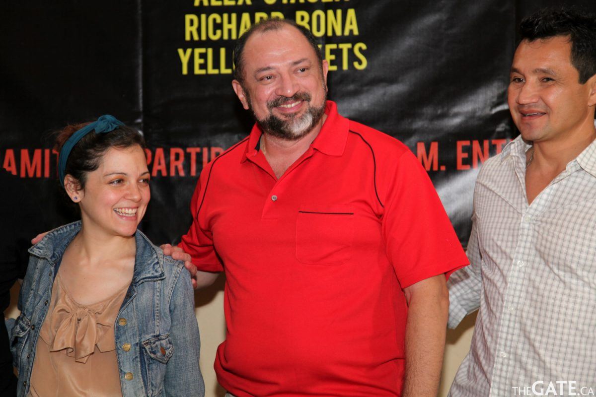 Natalia Lafourcade with organizers of the Riviera Maya Jazz Festival