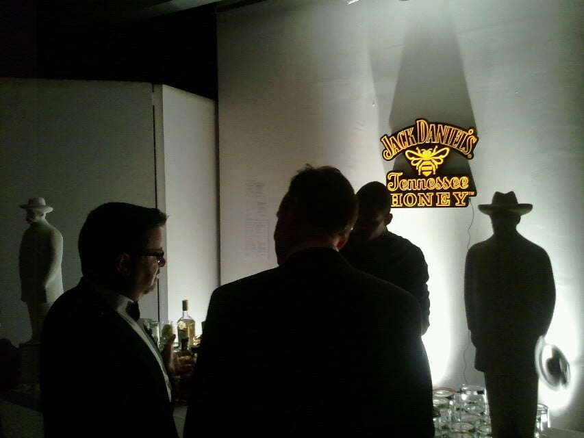 Whisky bar at Media Profile's holiday party