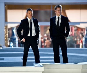Tom Hardy and Chris Pine in This Means War
