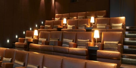 Hazelton Hotel screening room