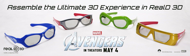 The Avengers RealD 3-D Glasses