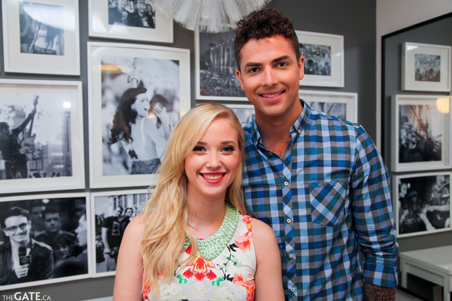 MuchMusic VJs Jesse Giddings and Liz Trinnear