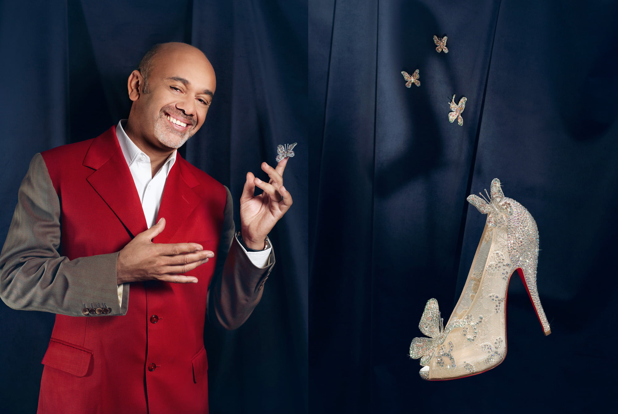 Christian Louboutin with the Cinderella slipper