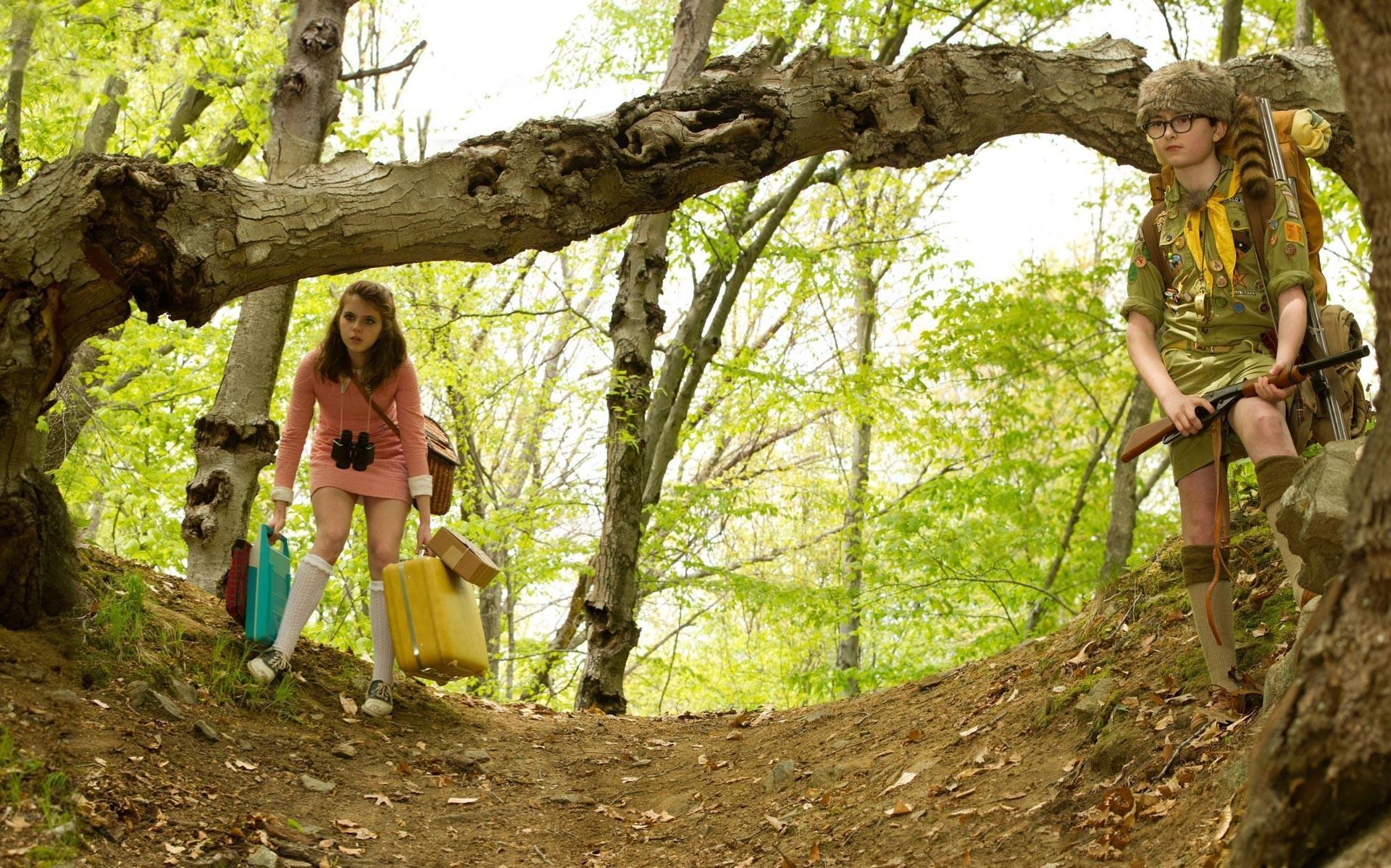 Kara Hayward and Jared Gilman in 'Moonrise Kingdom'