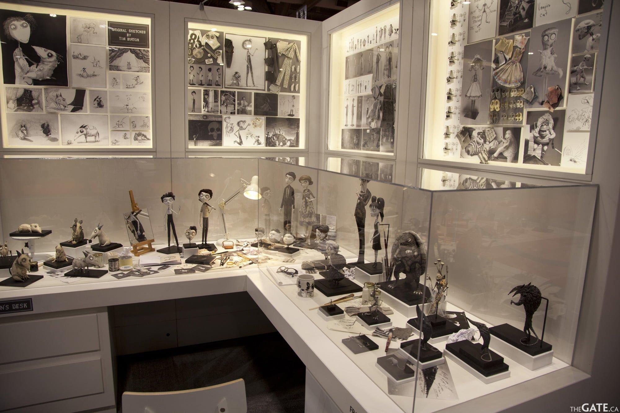 Tim Burton's desk replica